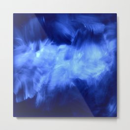 Ultraviolet Purple Lavender White Abstract Brush Strokes Metal Print