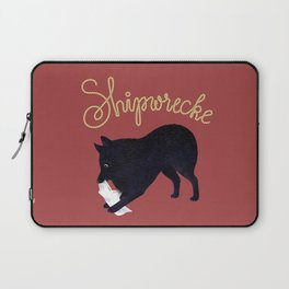 Shipwrecke (Red and Beige) Laptop Sleeve