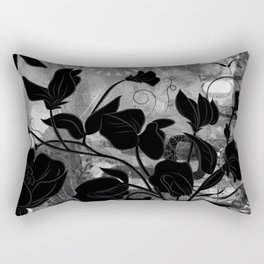Queen Sweet Pea -- grayscale Rectangular Pillow