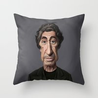 celebrity Throw Pillows featuring Celebrity Sunday ~ Al Pacino by rob art | illustration