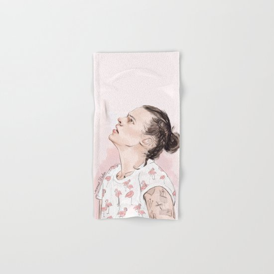 Harry Flamingo Hand & Bath Towel