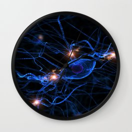 ACTIVE NERVE CELL DIGITALLY GENERATED IMAGE MEDICAL LABORATORY SCIENCE Wall Clock