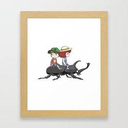 Beetle ride Framed Art Print