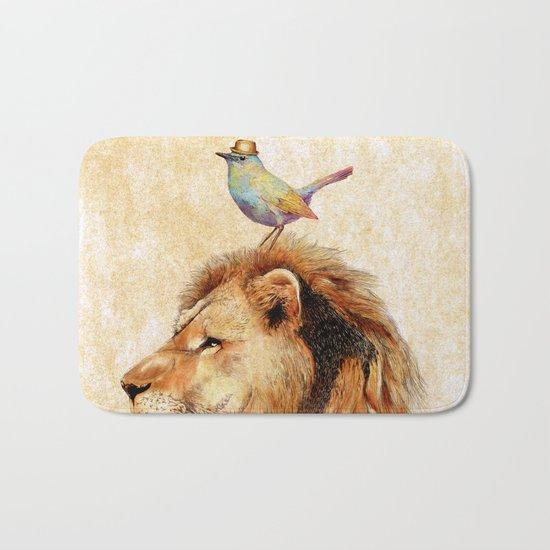 Lion&Bird Bath Mat