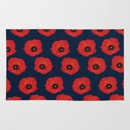 Imagine Poppies - Indigo Background Rug