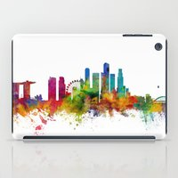 singapore iPad Cases featuring Singapore Skyline by artPause