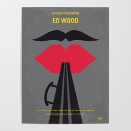 No924 My Ed Wood minimal movie poster Poster