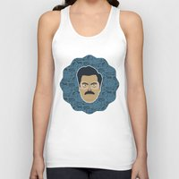 parks and recreation Tank Tops featuring Ron Swanson - Parks and recreation by Kuki