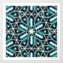 Buzios (Blue Tourmaline) Art Print