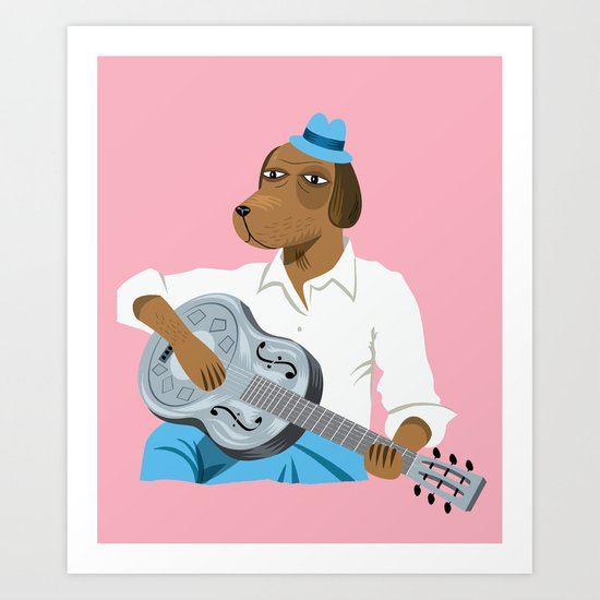 Hound Dog Slim Art Print