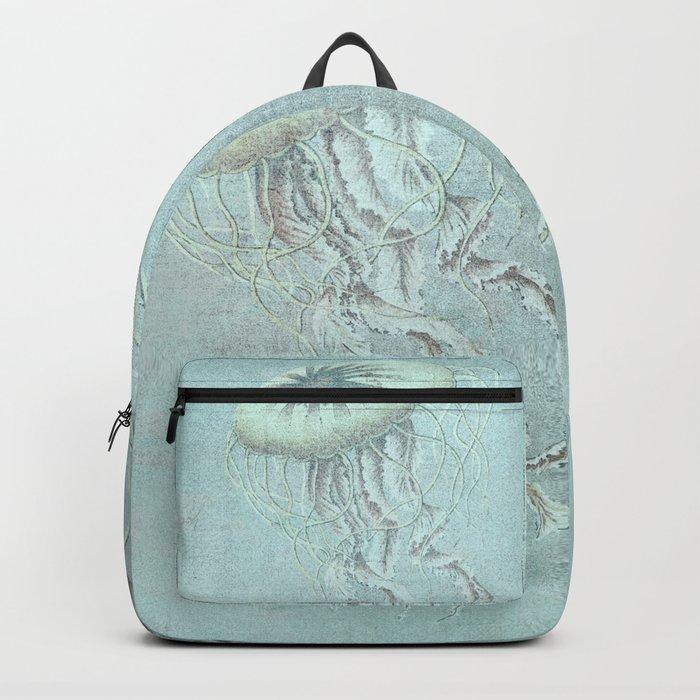 Jellyfish Underwater Aqua Turquoise Art Backpack