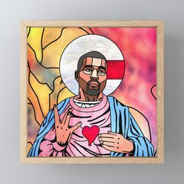 What Would Jesus Do? Framed Mini Art Print