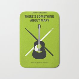 No286 My There's Something About Mary minimal movie poster Bath Mat