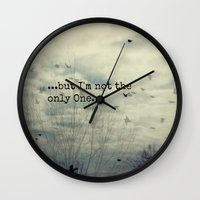 dreamer Wall Clocks featuring Dreamer by KunstFabrik_StaticMovement Manu Jobst