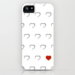 Hearts - Classic Red iPhone Case