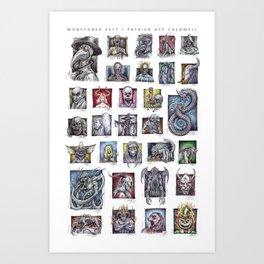 Monster Compilation Art Print