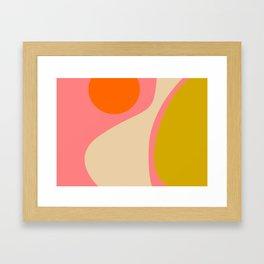 abstract composition modern blush pink Framed Art Print