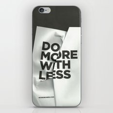 Do More With Less iPhone & iPod Skin