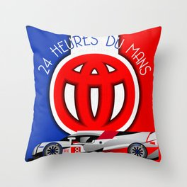 24 Hours of Le Mans - Toyota TS050 Throw Pillow
