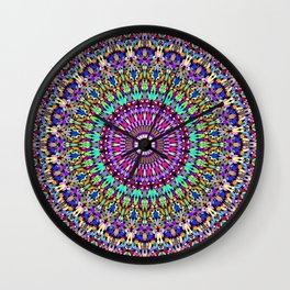 Colorful Love Mandala Wall Clock