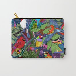 Colorful Birds// Bright Jungle Carry-All Pouch