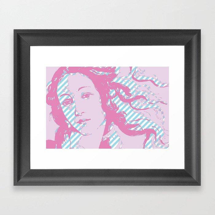 Rebirth of Venus - Pink & Cyan - Trans Pride! Framed Art Print