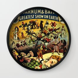 1890 Barnum and Bailey Greatest Show on Earth A Child's Dream Vintage Poster Wall Clock