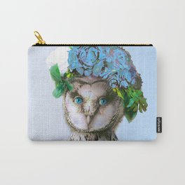 Cool Animal Art - Owl with a Flower Crown Carry-All Pouch