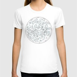 Constellations of the Northern sky - ligth blue T-shirt