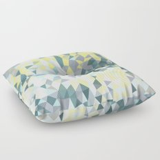 Spring Rain Tris Floor Pillow