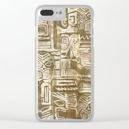 tribal pattern in earth tones Clear iPhone Case