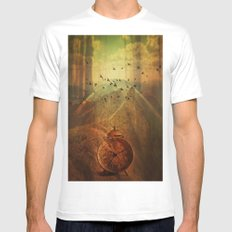 Veil of time MEDIUM White Mens Fitted Tee