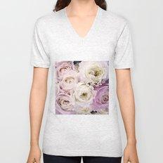 Romantic Roses Unisex V-Neck