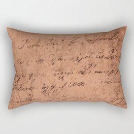 Manuscript Rectangular Pillow