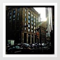 Glasgow:Philadelphia  Art Print