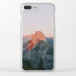 Half Dome Alpenglow Clear iPhone Case