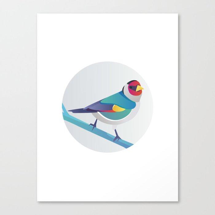 BIRD ON A BRANCH 3 Canvas Print