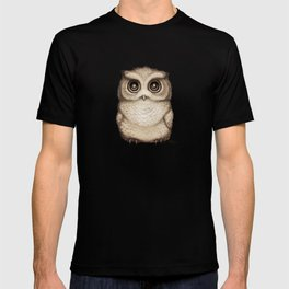 """""""The Little Owl"""" by Amber Marine ~ Graphite & Ink Illustration, (Copyright 2016) T-shirt"""