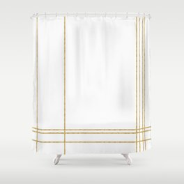 Gold Lines - 1 Shower Curtain