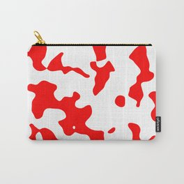 Large Spots - White and Red Carry-All Pouch
