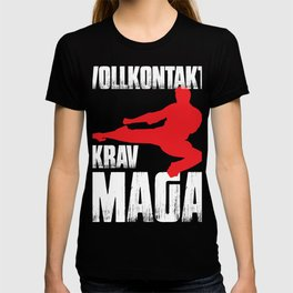 Krav Maga martial arts fighter training T-shirt