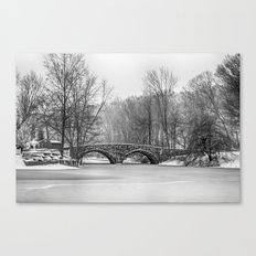Stone Bridge at Clove Lakes Staten Island Canvas Print