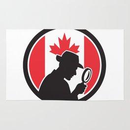 Canadian Private Investigator Canada Flag Icon Rug