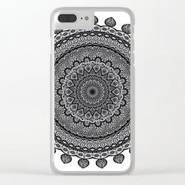 Mandala Black&White Clear iPhone Case