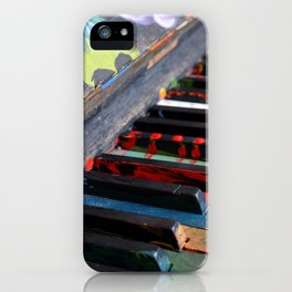 Colourful Piano Keys iPhone Case