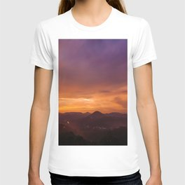 Sunset Long Exposure (Color) T-shirt