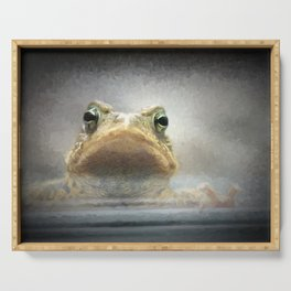 Frog from Front Painting Style Serving Tray