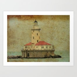Old and wise light Art Print