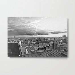 Sunset over Paris VI Metal Print