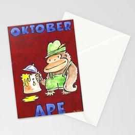 Oktober Ape on Red Stationery Cards